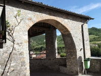 Gate entrance to the walled village (a borgo in bricks)